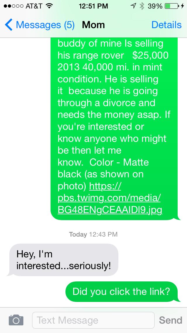 text pranks continue matte black range rover my first world girl